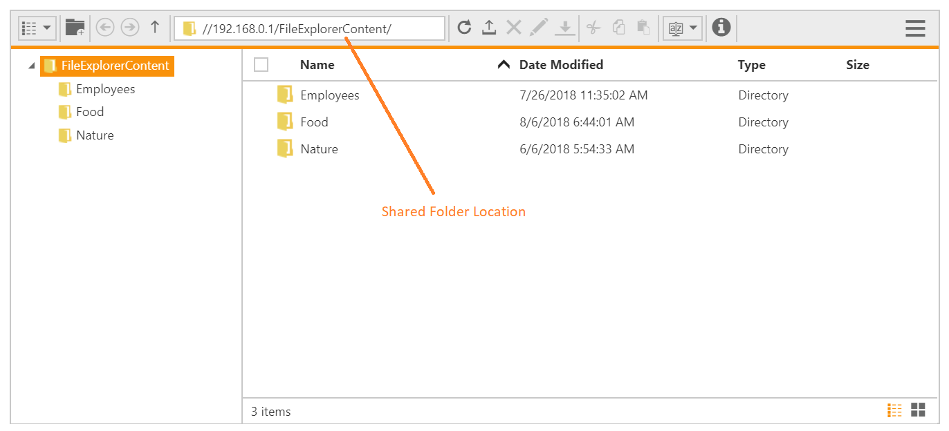 Accessing Shared Folder from File Explorer
