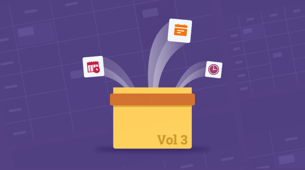 New features of scheduler for volume 3