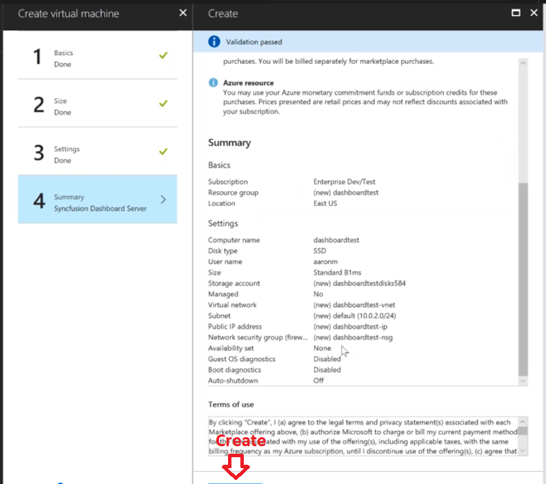 How to: Setting Up the Dashboard Server in Azure