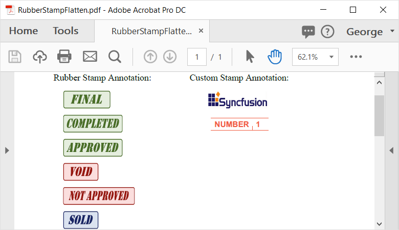 flattening stamp annotation