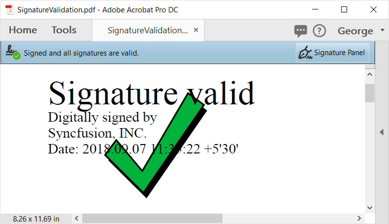 signature appearance validation