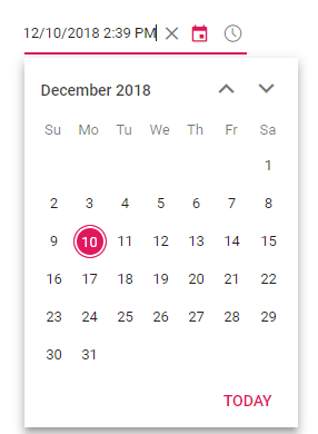 Date time control with In-place edit.