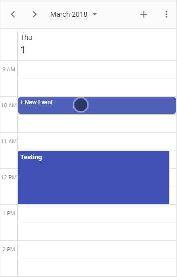 New Event Indicator in Scheduler Mobile Mode
