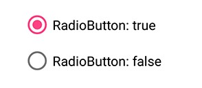 Syncfusion's Xamarin.Forms Radio Button for single choice selection.