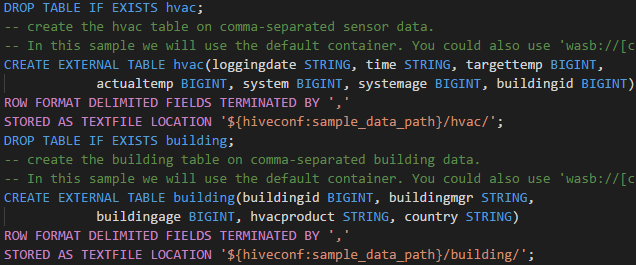 Syntax Highlighting in HDInsight Tools