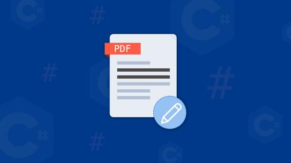 Redact PDF using C#