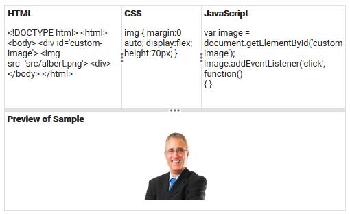 Code editor UI layout using React Splitter