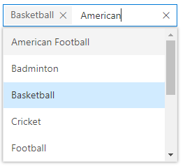 Multiselect dropdown control improves filtering and searching