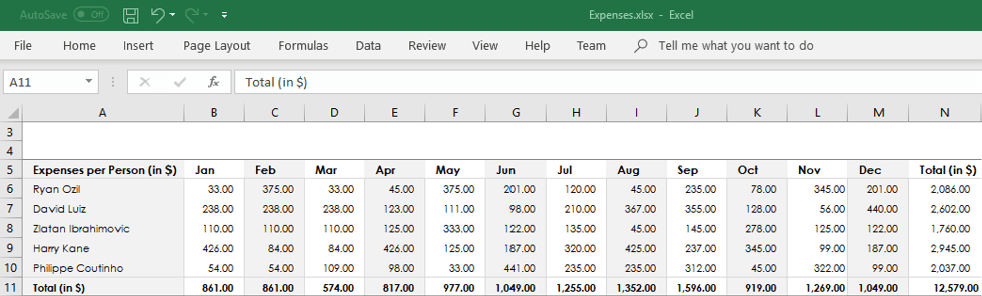 Excel data before exporting from array to Excel in c#