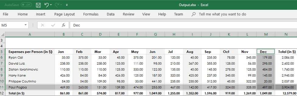 Export array of data to Excel in c#
