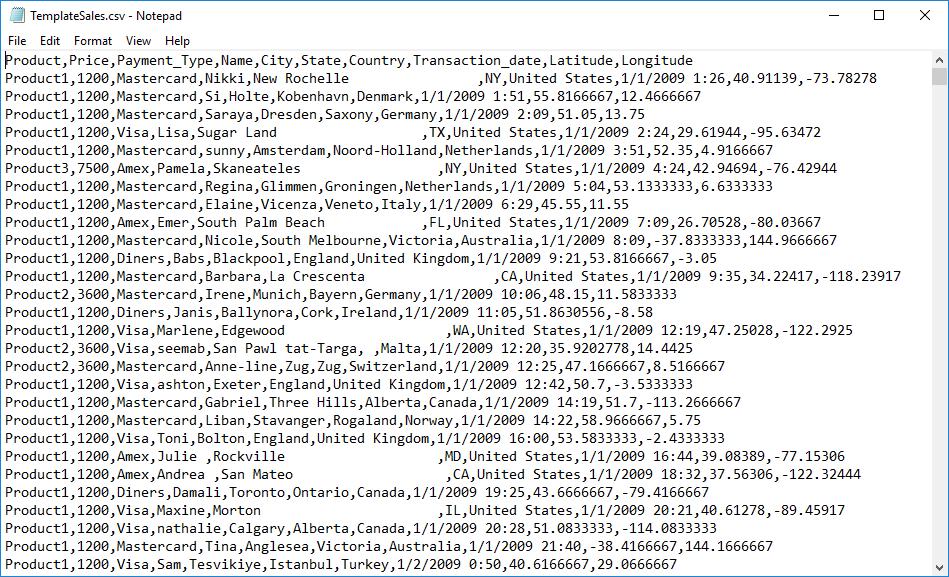 Input CSV File