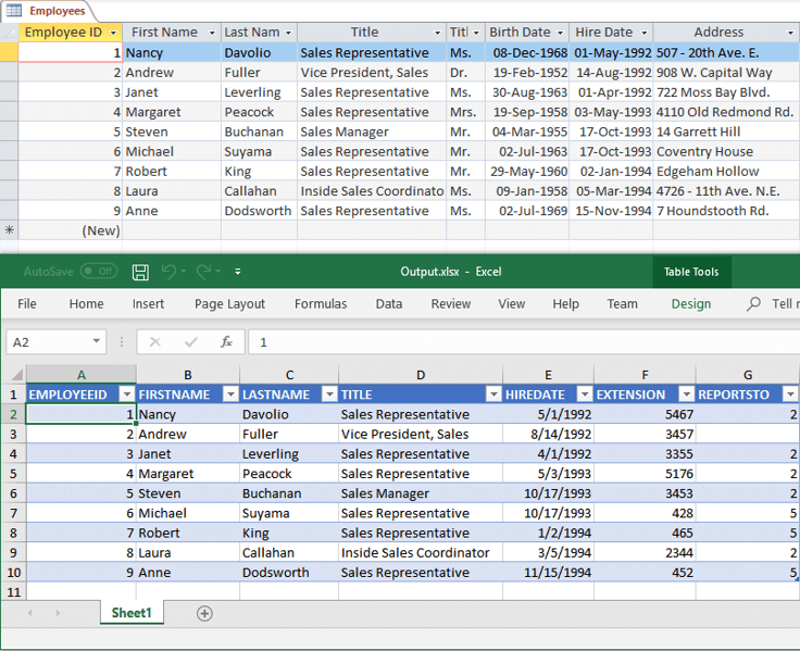 Export Database to Excel in c#