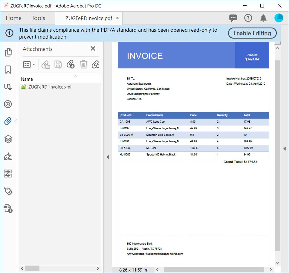 Create ZUGFeRD-Compliant PDF Invoice in C# | Syncfusion Blogs