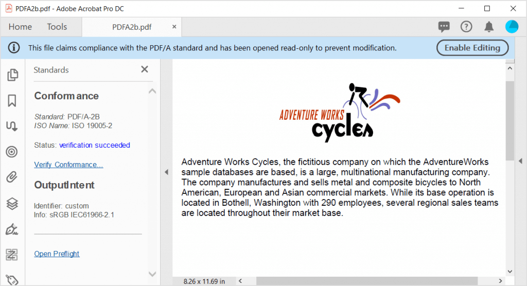 PDF/A-2B conformance document created using Syncfusion PDF library