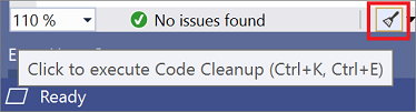 Code Cleanup Option