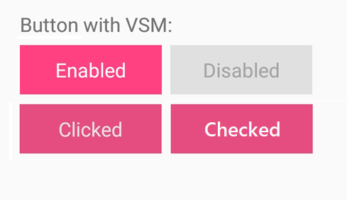 Syncfusion Button with customized text using Xamarin.Forms Visual State Manager