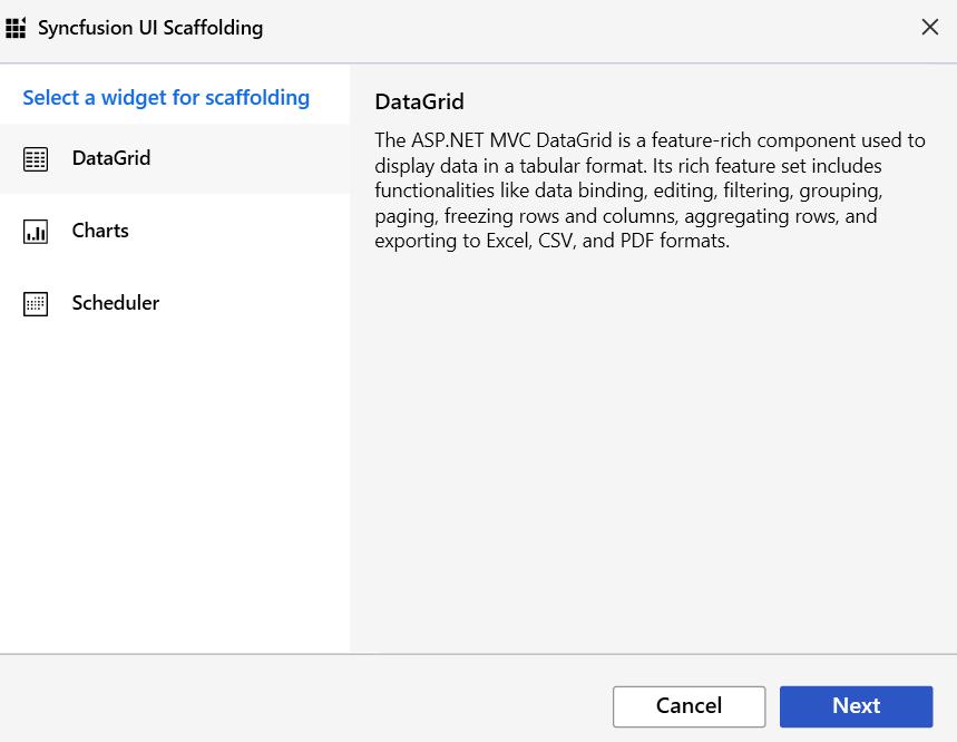 Scaffolding Controls in ASP NET MVC | Syncfusion Blogs