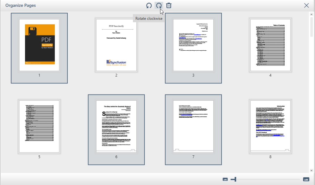 Rotate multiple pages - PDF Viewer