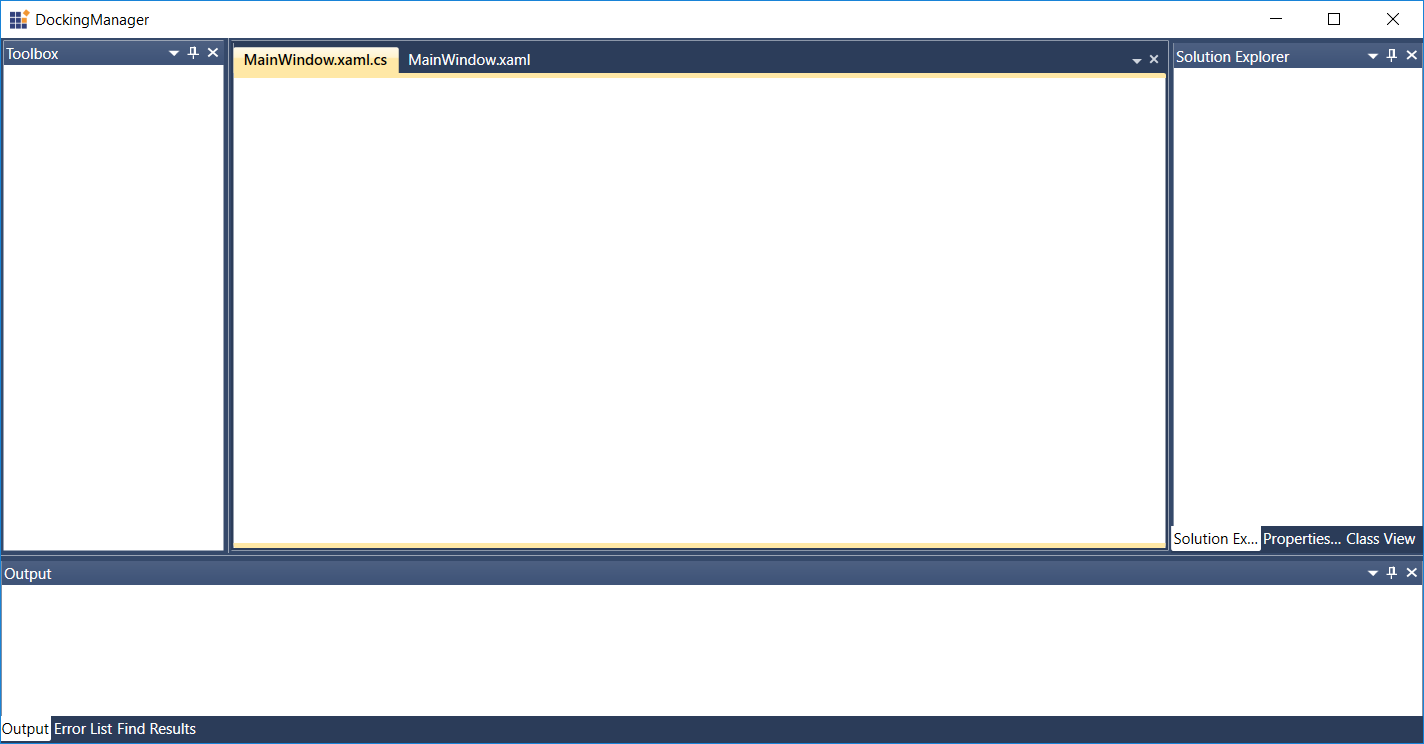 Create Visual Studio-like Docking Windows in WPF