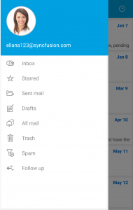 Xamarin.Forms Navigation Drawer with font icons