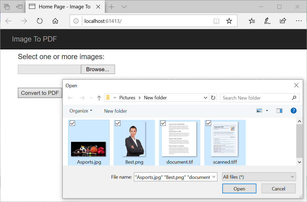How to Convert Image to PDF in ASP NET Core | Syncfusion Blogs