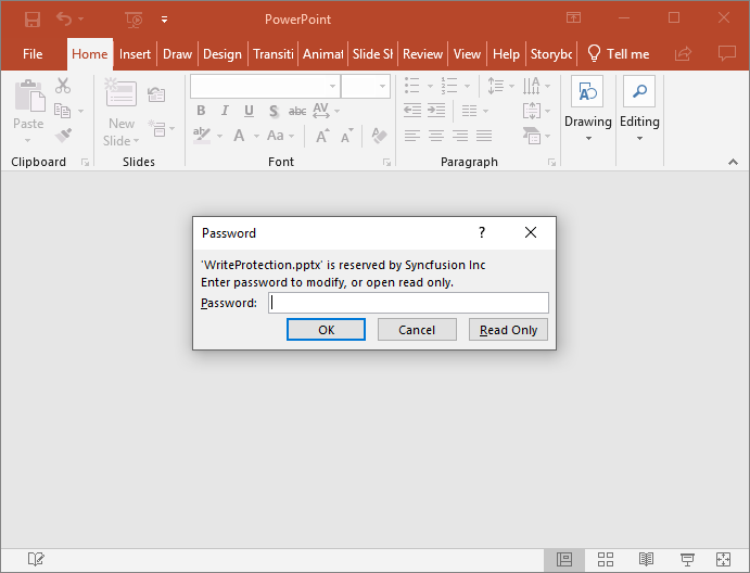 Write-Protected PowerPoint Presentation