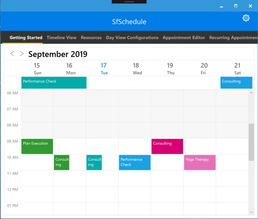 Scheduler Control Xamarin.Forms WPF