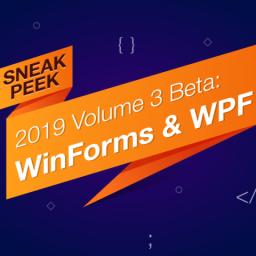 Sneak Peek 2019 vol 3 - Winforms WPF