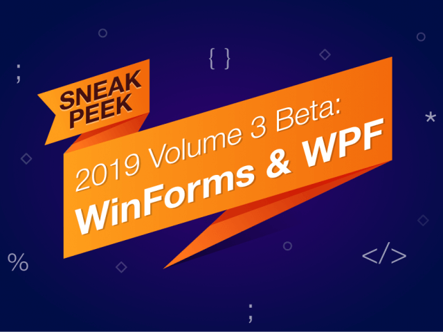 Sneak Peek 2019 vol 3 - Winforms WPF