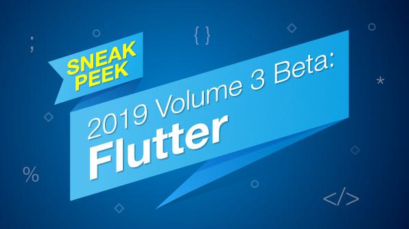 Sneak Peek Syncfusion Flutter