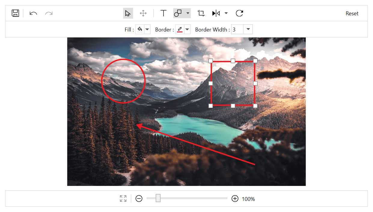 Annotating shapes with an image in WPF Image Editor.