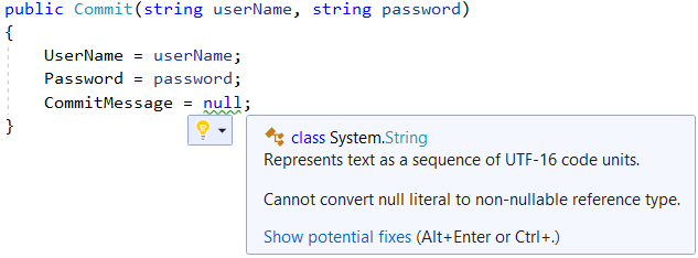 Cannot convert null literal - C# 8.0
