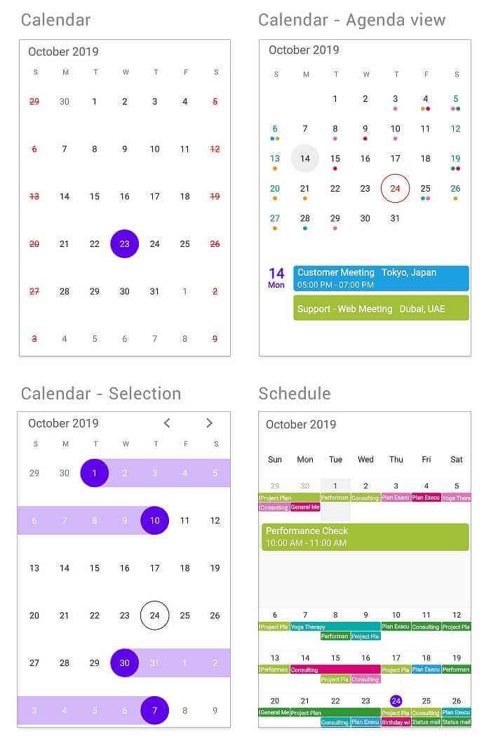 Calendar and Schedule.
