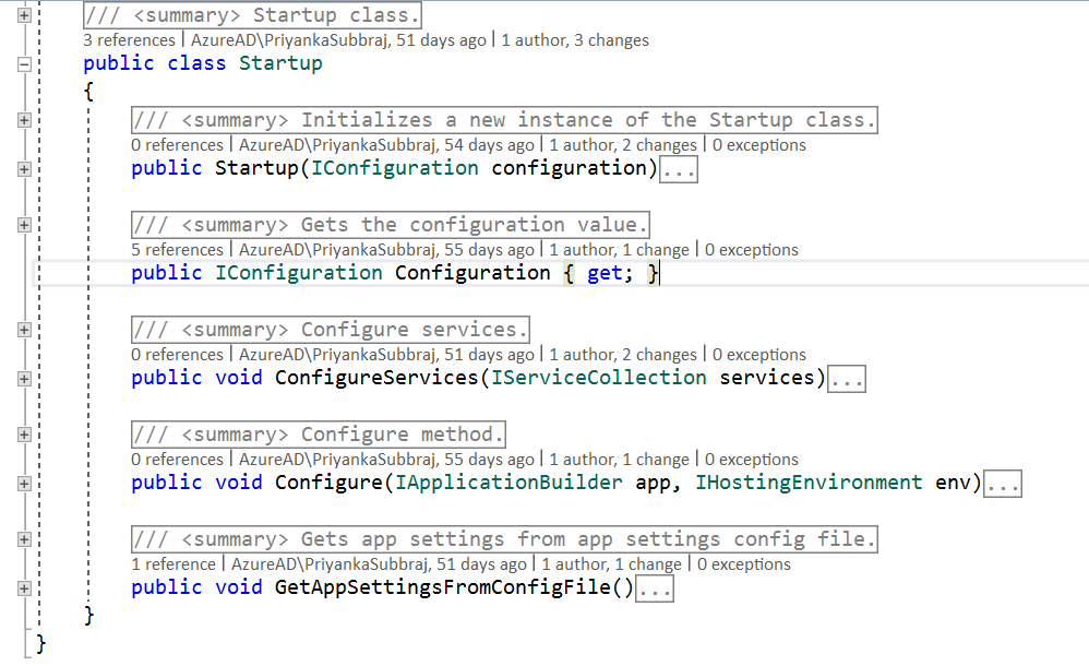 Collapsing Code.