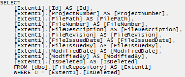 Query Compiled into SQL. - LINQ to Entities