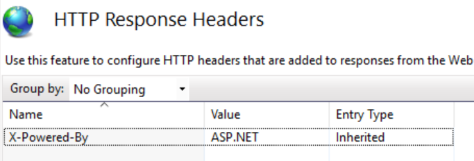 Removing the X-Powered-By Header in IIS Settings.