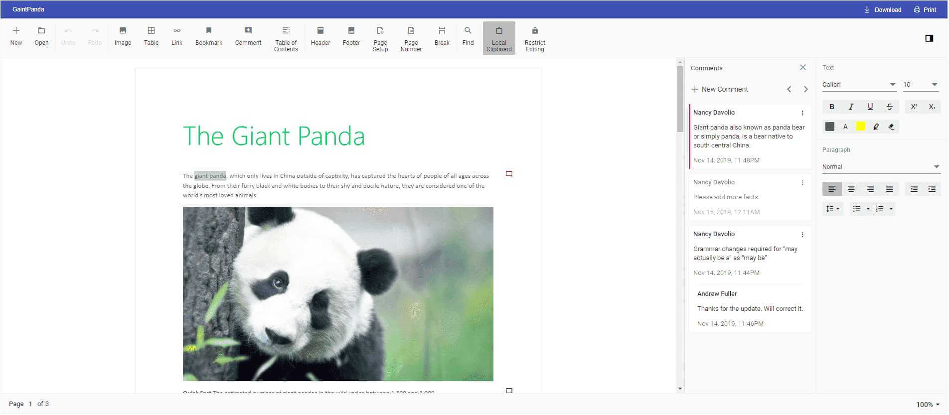 Adding Comments to a Word Document.