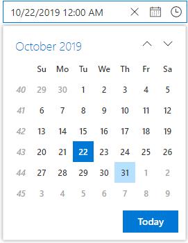Calendar with Week Numbers.