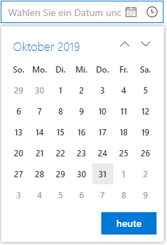 DateTime Picker with Custom Text.