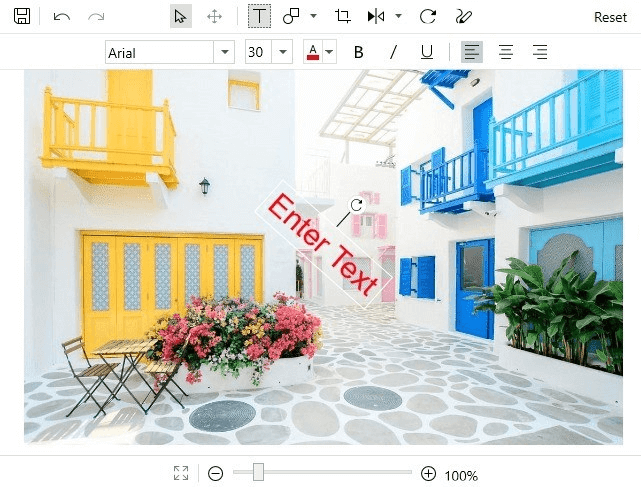 Text Rotation in Image Editor.