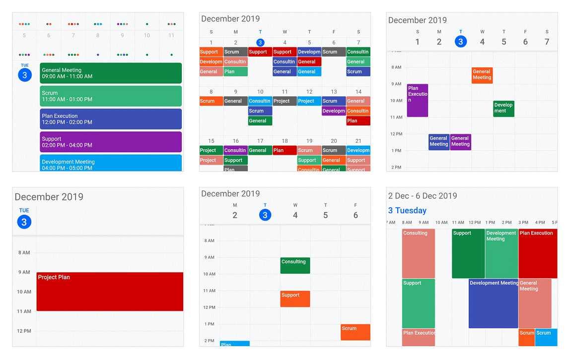 Appointments in Calendar widget for Flutter