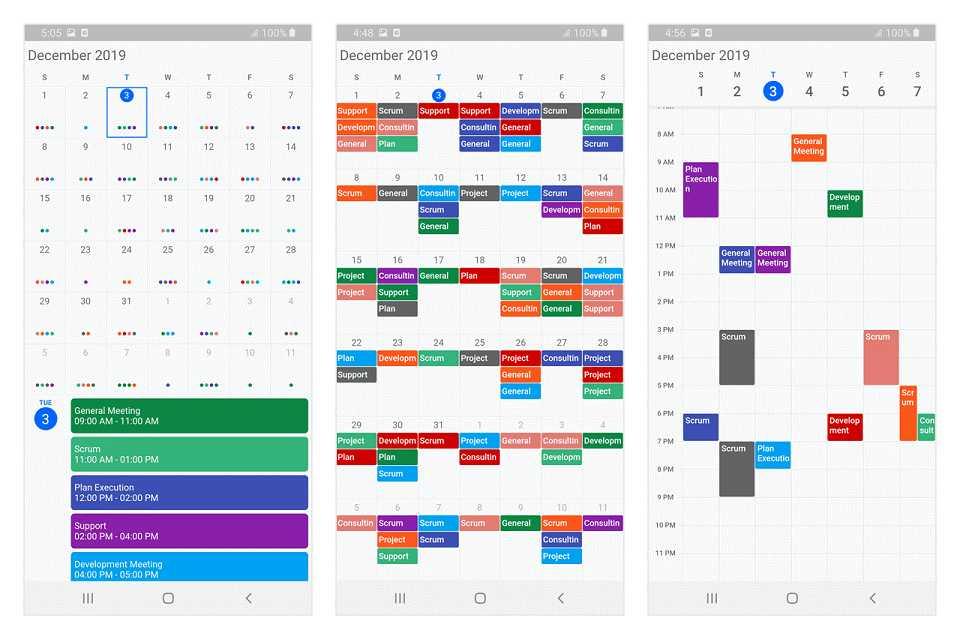 Calendar widget for Flutter