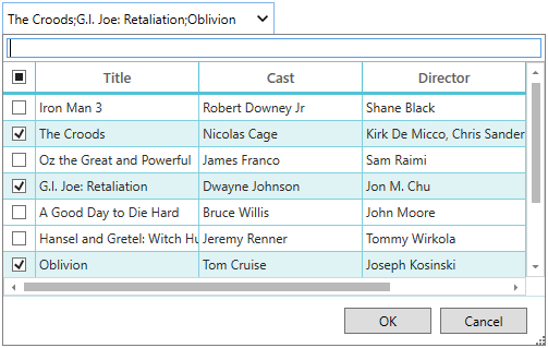 Custom Header in Multi Column Dropdown
