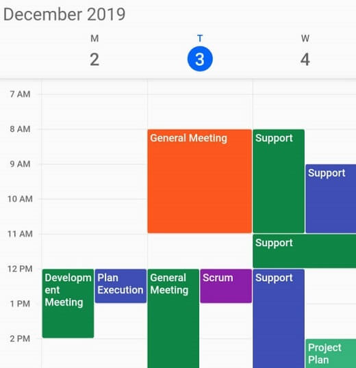 Flexible working days in Calendar widget for Flutter