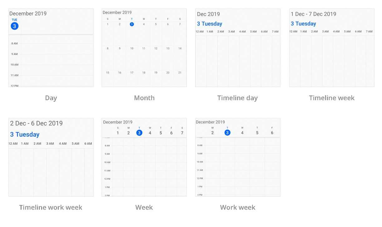 Multiple calendar view modes - Calendar Widget for Flutter