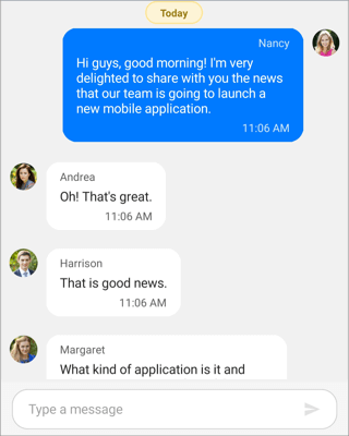 Time break mode - Xamarin Chat control