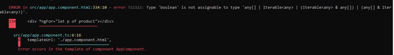 Clearer build errors - Angular 9