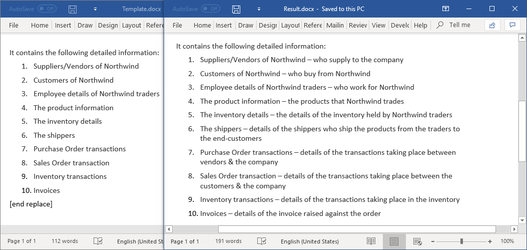 Find text that extends to several paragraphs and replace it