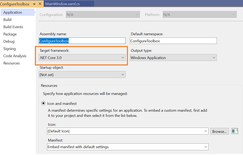 Setting target framework to .NET Core 3.0