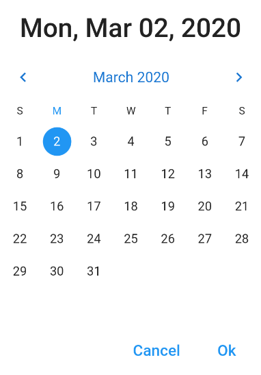 Date range picker - Flutter